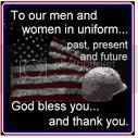 Men & Women in Uniform God Bless You