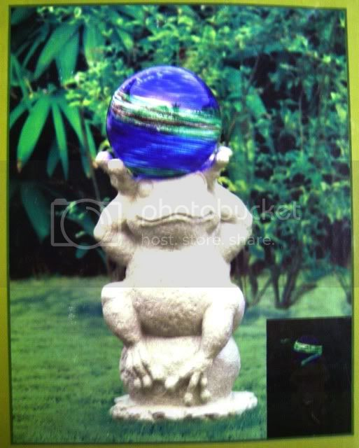 Buy Garden Gazing Ball Blue Glass Glow Dark at AtomicMall.com